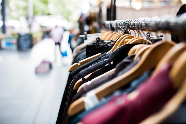 shopping rack on the street