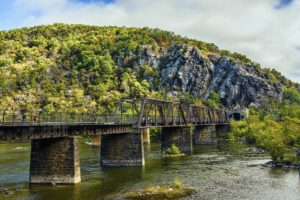 Historical bridge at Harpers Ferry