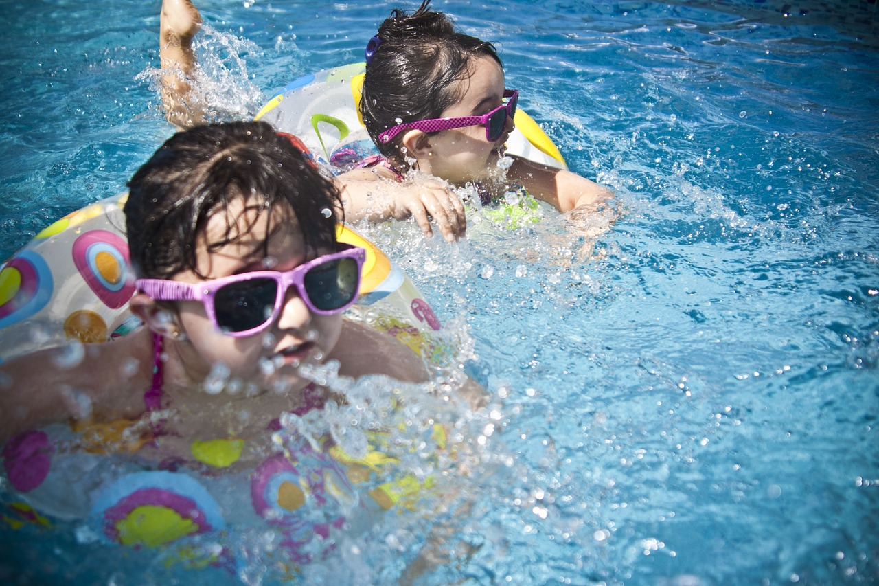 kids at a pool party
