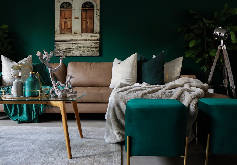 Design trends in green living room